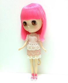 Polka Dot Top  Lace Skirt  Underpants for Neo Blythe