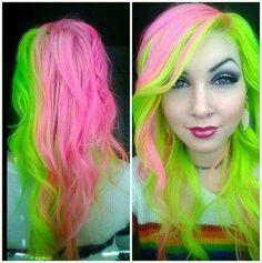 Verde limão e rosa claro, um amorzinho <3