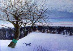 """Saatchi Art Artist Gay Galsworthy; Painting, """"Cat"""" #art"""