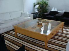 Produção de tapete em chenille com listras irregulares para a sala de estar da Lina