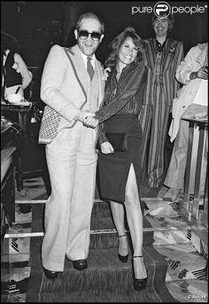 Elton John with Raquel Welch - Paris - 1976