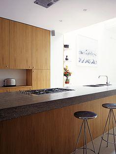 cast concrete kitchen worktop UK Sussex Rose Arbor, Concrete Kitchen, Kitchen Worktop, Furniture Making, Interior And Exterior, It Cast, Table, Home Decor, Decoration Home