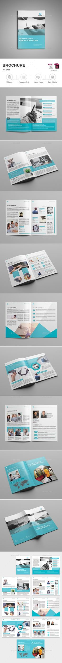 Brochure  — InDesign Template #8.27x11.69 #corporate • Download ➝ https://graphicriver.net/item/brochure/18271682?ref=pxcr