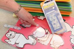 some great ideas for making simple, durable puzzles and other fun ways to use velcro in the clinic