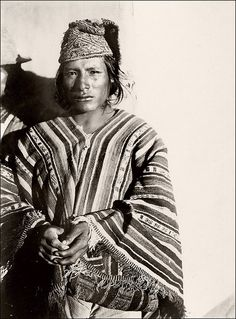 Quechua Somewhere in the Andes, probably near Viloco in Bolivia. Ca. 1930s, unidentified german amateur photograph