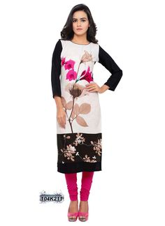 Marvelous Multi Coloured Rayon Printed Kurti