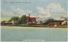 The King and Hamilton Manufacturing complex was located to the north of the I&M Canal and to the immediate south of the Rock Island Railroad tracks. Its eastern side was located on LaSalle Street, Ottawa, IL