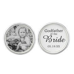 Godfather of the Bride Custom Photo Cufflink #fatherofthebride wedding craft items #bridal #custom #craft #diy #diywedding