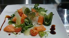 Sashimi and veggie combo,, :-)