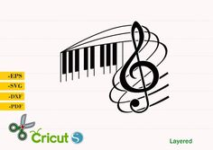 Trumpet Music, Ballet Music, Music Signs, Free Piano, Programing Software, Music Icon, Vinyl Cutting, Music Notes, Cricut