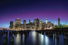 New York Sky Line - Canvas Print by Nanouk El Gamal