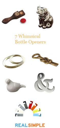 Love the dog and nautical knot bottle openers.