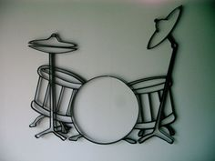 metal+wall+art+drum+sets | Iron Guitar Wall Decor - GiftYourGuy.com GiftYourGuy.com