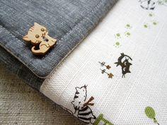 Olive happy cats  Padded Kindle/ Nook / iPad Mini by Thitaree. , via Etsy.