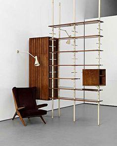 Amazing shelf/storage tension pole unit.