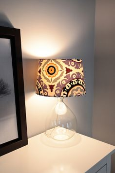 Recovered Fabric Lampshade