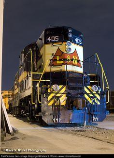 RailPictures.Net Photo: LN 405 Louisville & Nashville EMD GP7 at Nashville, Tennessee by Mark S. Wurst - www.idiotrailfan.com
