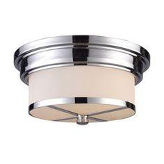 Westmore Lighting 13-In W Polished Chrome Flush Mount Light 15015/2-Led