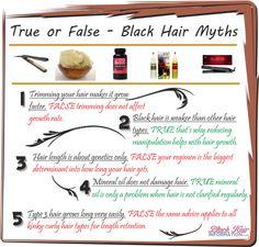True Or False – Black Hair Myths – BHI Postcard Tips