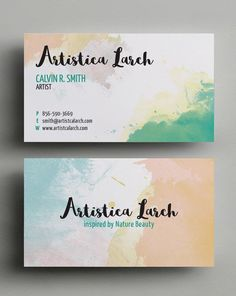 Artist Business Card Graphic available in EPS vector format     Artistic Business Card  Template