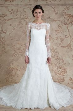 Sweetheart Fit and Flare Wedding Dress  with Natural Waist in Lace. Bridal Gown Style Number:33315615