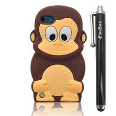 FiveBox 3D Cartoon Cute Monkey Style Soft Silicone Cover Case For Apple ipod Touch 5 - Brown FiveBox http://www.amazon.com/dp/B00DI33Q84/ref=cm_sw_r_pi_dp_fJUlub1GRX9WT