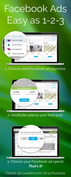 Struggling with how to make Facebook ads? Good news – HootSuite has a tool that sets up a Facebook ad in seconds – right in the HootSuite dashboard. Check out the details and give it a try at the link! --> http://louisem.com/14343/how-to-make-facebook-ads