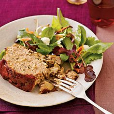 Turkey Meatloaf. Really delicious and a good low carb, low cal and cholesterol friendly dinner. The only thing I changed was whole wheat breadcrumbs.