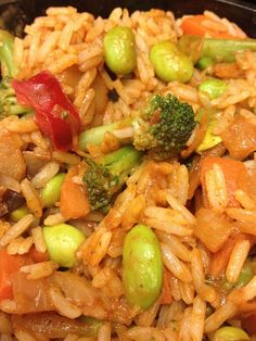 Chicken Fried Rice   Lightened Up Comfort Food   Only 246 Calories   19 Grams Protein to Keep you Satisfied   Delicious Way to Get Veggies   For MORE RECIPES, fitness & nutrition tips please SIGN UP for our FREE NEWSLETTER www.NutritionTwins.com