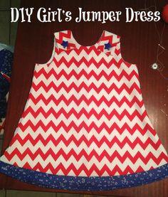 DIY Girls Jumper Dress