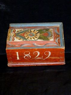 candle box from the town of Lima,Sweden. Dated 1829