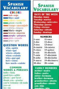 Spanish Vocabulary S