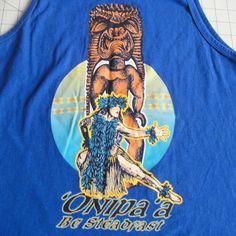 'Onipa'a Be Steadfast Tank Top Hawaii Sexy Hula Dancer Grass Skirt Ku Tiki God #Anvil #TankTop