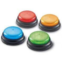 Kids will light up when they reach for these fun buzzers!Sounds mimic real-world objects—a siren, game-show buzzer, laser and charge! Class Activities, Learning Resources, Classroom Activities, Classroom Ideas, Teaching Tips, Classroom Tools, Kindergarten Classroom, Future Classroom, Teacher Resources