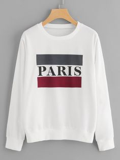 Letter Print Sweatshirt Funny Sweatshirts, Sweatshirts Online, Printed Sweatshirts, Hoodies, Funny Tees, Earl Sweatshirt, Graphic Sweatshirt, Direct To Garment Printer, Shirt Designs