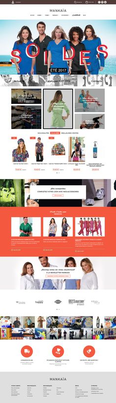 Refonte de la boutique en ligne Mankaia, vêtements médicaux. www.mankaia.com #webdesign #shopping #online #professional Identity, Web Design, Shopping, Boutique Online Shopping, Design Web, Personal Identity, Site Design, Website Designs