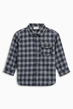Grey Brushed Check Shirt (3mths-6yrs) £11