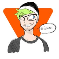 theredcannon: A quick sketchy doodle of jacksepticeye I did when I saw the picture of him with his new glasses. therealjacksepticeye: I need a latte in the pic :P  But this is great, thank you!
