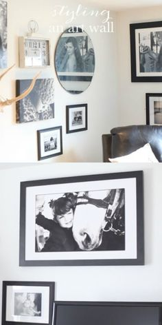 How to style an art wall!