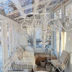 She Sheds, Old Windows, Conservatories, Old Doors, Greenhouses, Winter Garden, Gazebo, Chandelier, Interiors