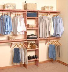 Deluxe Solid Wall Closet Organization Kit 10' #closetorganization #closetsystem