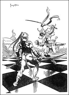 Frank Frazetta ~ Thuvia Maid of Mars / The Chessmen of Mars by Edgar Rice Burroughs