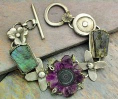 Three Opals Three Flowers by Temi on Etsy