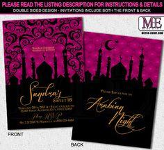Arabian Nights Sweet 16 Birthday Party Invitation by MetroEvents