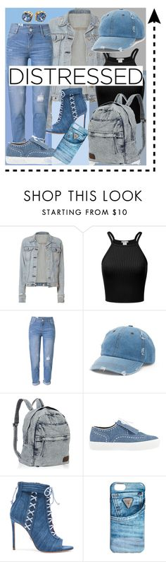 """Distressed Denim👖"" by lara-fashion22 ❤ liked on Polyvore featuring rag & bone, WithChic, Mudd, Robert Clergerie, Oscar Tiye, GUESS, Tory Burch, cute, outfit and distresseddenim"