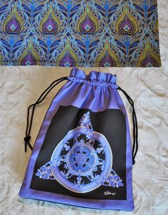 Mandala Drawstring Bag and/or Spread Cloth by Allenx2PhotoandCraft, $20.00