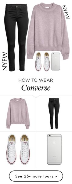 """""""Street Style NY"""" by aure-white on Polyvore featuring Converse and Native Union"""