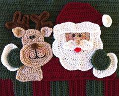 Santa Pillow Close Up Crochet Pattern Finally the day you have been waiting for - the Santa Pillow is finished! Here is the complete finished version of the Santa Pillow cro. Crochet Santa, Crochet Gifts, Crochet Home, Free Crochet, Knit Crochet, Crochet Stitch, Crochet Christmas Ornaments, Christmas Crochet Patterns, Holiday Crochet