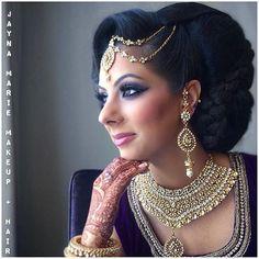 This stunning  Indian bridal makeup featuring our #starletlashes by ✨@jaynamariemakeup✨ is on point!  #updo #indianbeauty #bridesofinstagram #indianbride #bollywood #glam #glamsquad #braid #wedding #wakeupandmakeup #engaged #weddingday #southasian #southasianbride #purple #henna #mendhi #culturalwedding #indianfusionweddings #hairinspo #beautyinspo #bridalmakeupandhair #braid #weddingsofinstagram #houseoflashes #starlet #lashesfordays