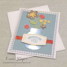 Mimi, Myself, and I: Cricut Artistry Collection Thinking of You Card